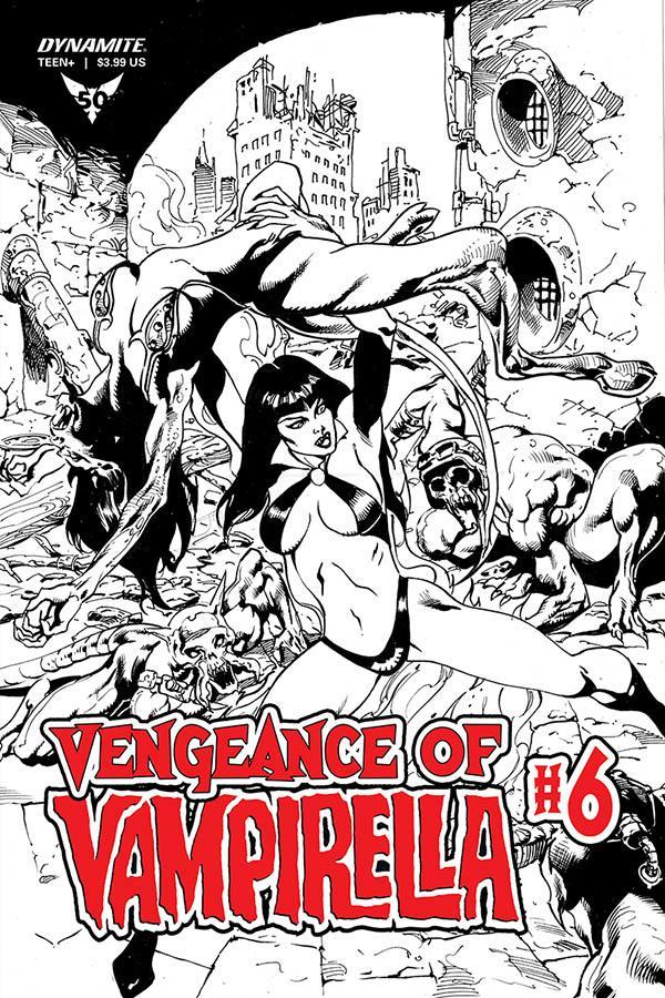 Vengeance Of Vampirella Vol 2 #6 Cover H Incentive Roberto Castro Black & White Cover
