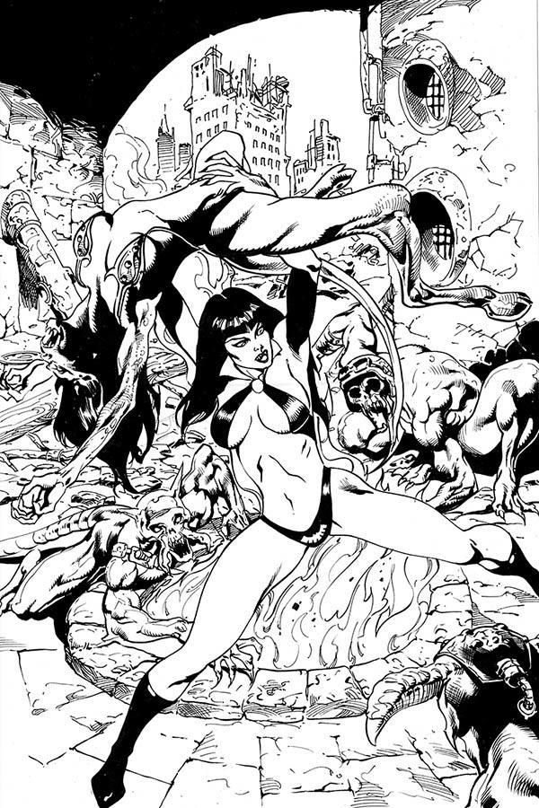 Vengeance Of Vampirella Vol 2 #6 Cover I Incentive Roberto Castro Black & White Virgin Cover