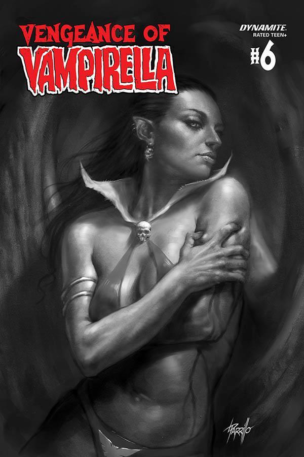 Vengeance Of Vampirella Vol 2 #6 Cover K Incentive Lucio Parrilllo Black & White Cover