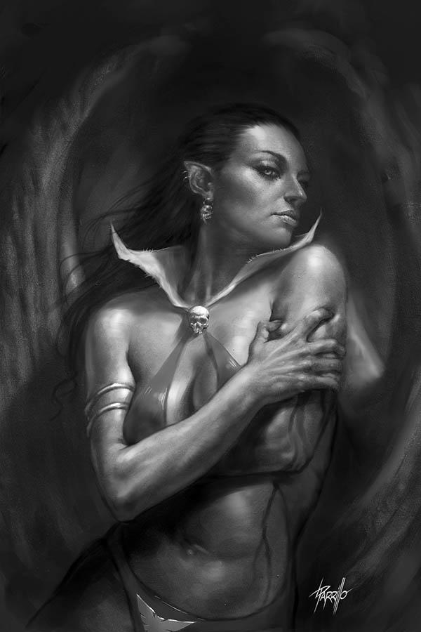 Vengeance Of Vampirella Vol 2 #6 Cover L Incentive Lucio Parrilllo Black & White Virgin Cover