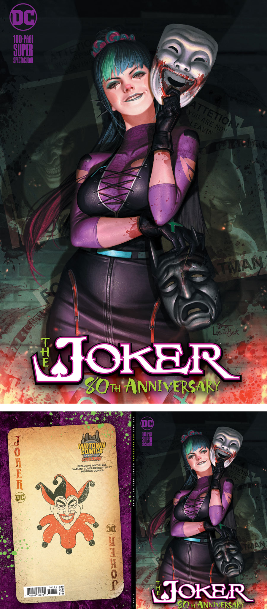 Joker 80th Anniversary 100-Page Super Spectacular #1  Midtown Exclusive Cover A Inhyuk Lee Alley Dressed Variant Cover
