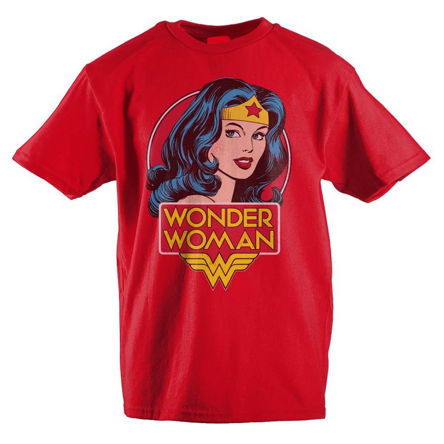 DC Comics Wonder Woman Red Youth T-Shirt Large