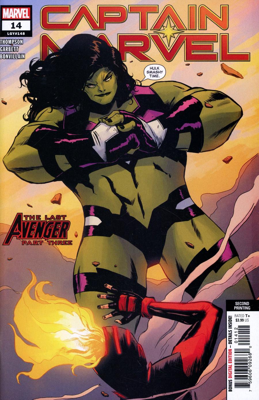 Captain Marvel Vol 9 #14 Cover D 2nd Ptg Variant Lee Garbett Cover