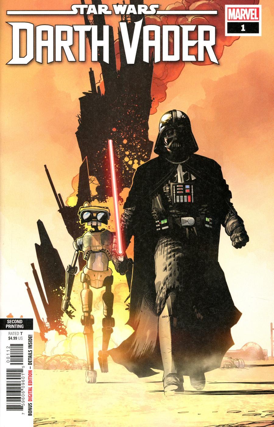 Star Wars Darth Vader #1 Cover I 2nd Ptg Variant Raffaele Ienco Cover