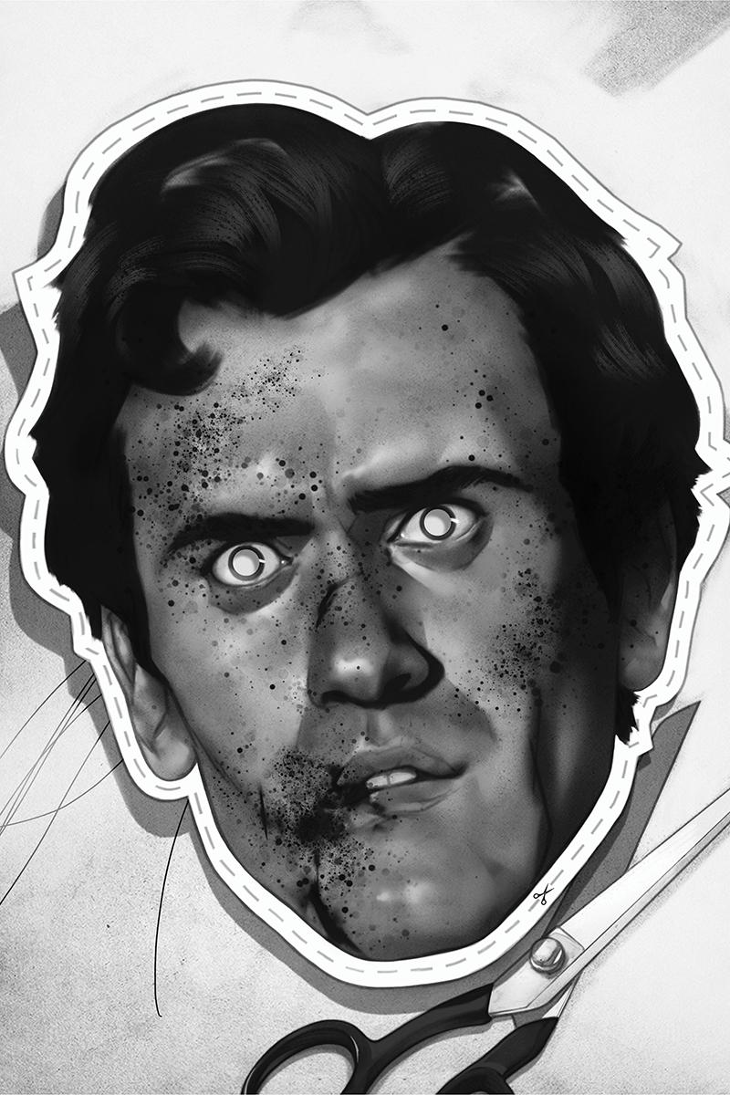 Death To The Army Of Darkness #2 Cover G Incentive Ben Oliver Black & White Virgin Cover