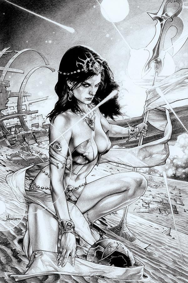 Dejah Thoris Vol 3 #4 Cover J Incentive Jay Anacleto Black & White Virgin Cover