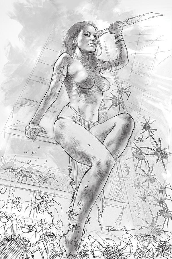 Dejah Thoris Vol 3 #4 Cover L Incentive Lucio Parrillo Black & White Virgin Cover