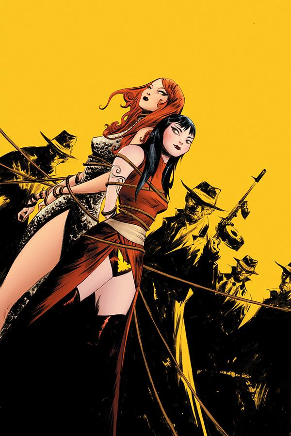 Vampirella Red Sonja #7 Cover O Incentive Jae Lee Yellow Virgin Cover