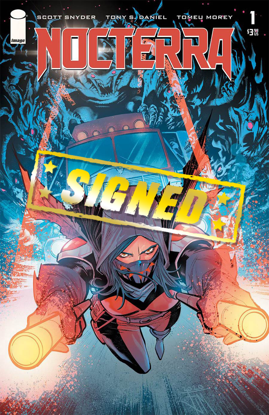 Nocterra #1 Cover R Incentive Francis Manapul Variant Cover Signed By Scott Snyder