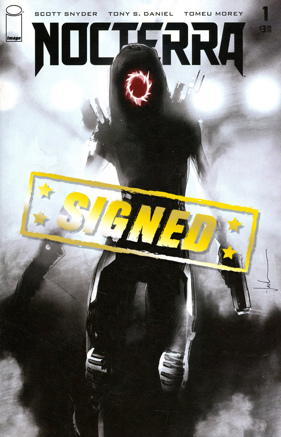 Nocterra #1 Cover U Incentive Jock Black & White Cover Signed By Scott Snyder