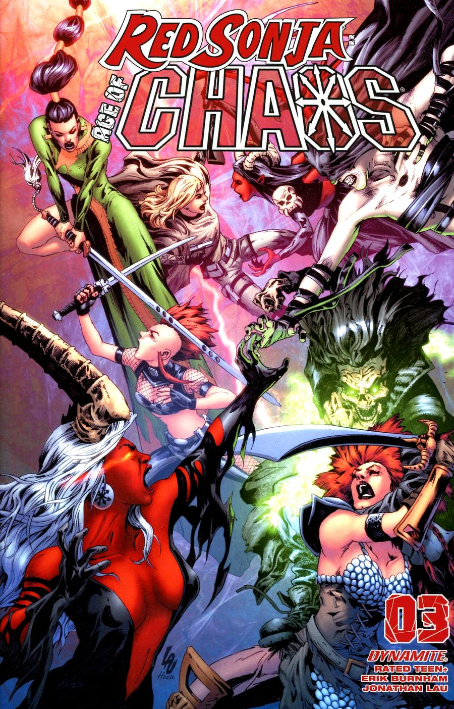 Red Sonja Age Of Chaos #3 Cover G Variant Jonathan Lau Cover