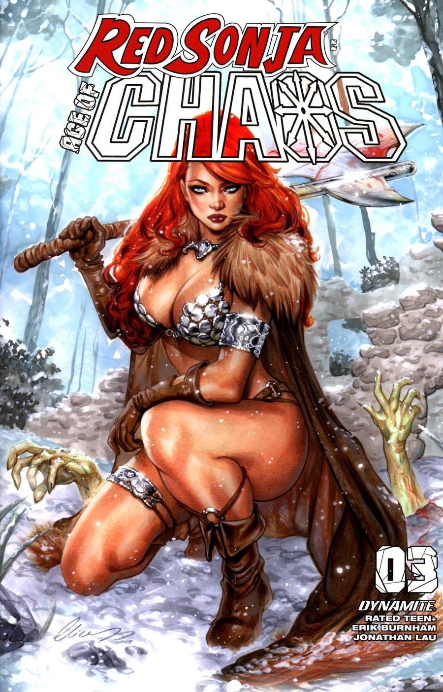Red Sonja Age Of Chaos #3 Cover H Variant Elias Chatzoudis Cover
