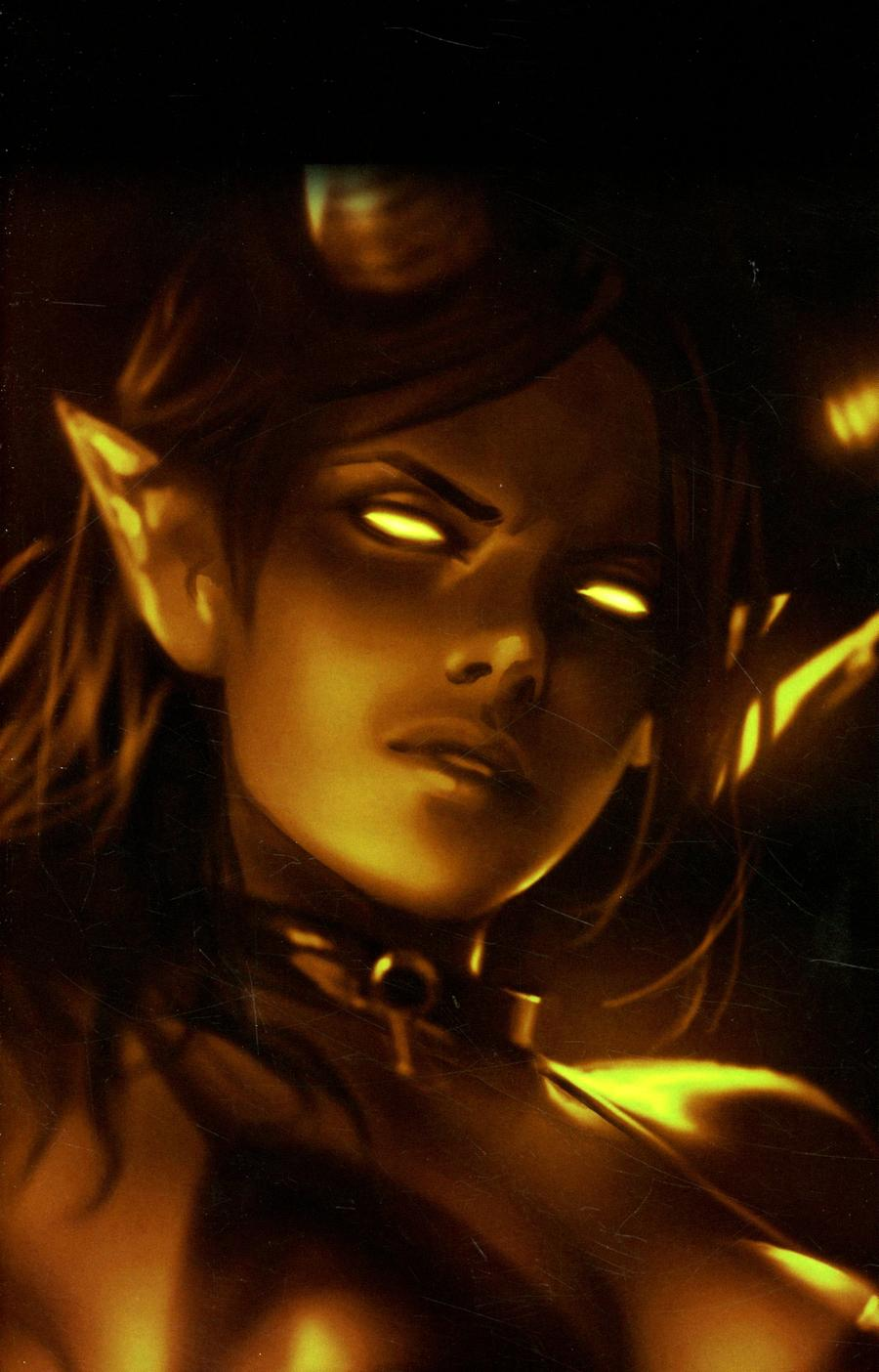 Red Sonja Age Of Chaos #3 Cover K Incentive Derrick Chew Sneak Peek Monochrome Virgin Cover