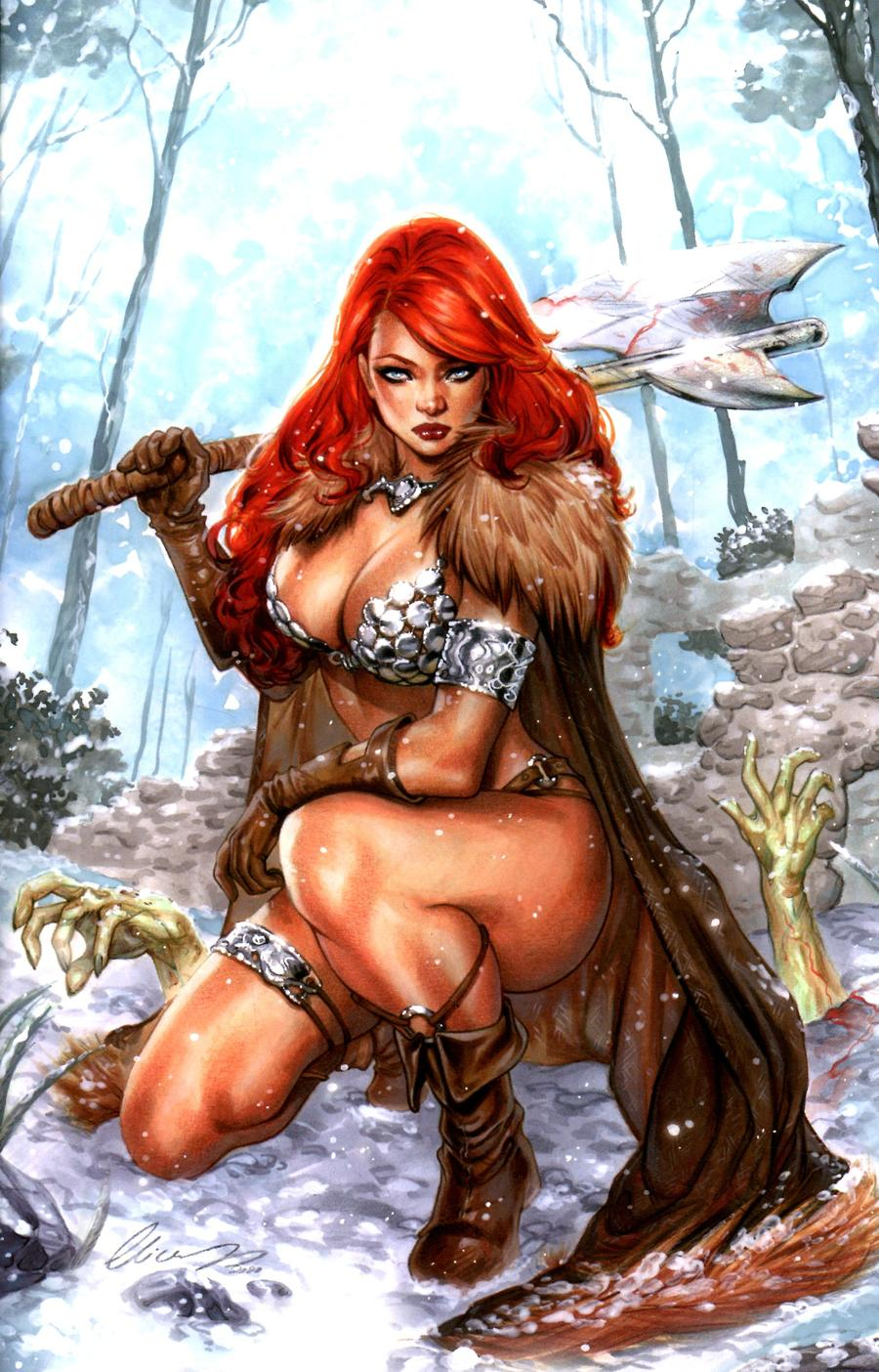 Red Sonja Age Of Chaos #3 Cover O Incentive Elias Chatzoudis Virgin Cover