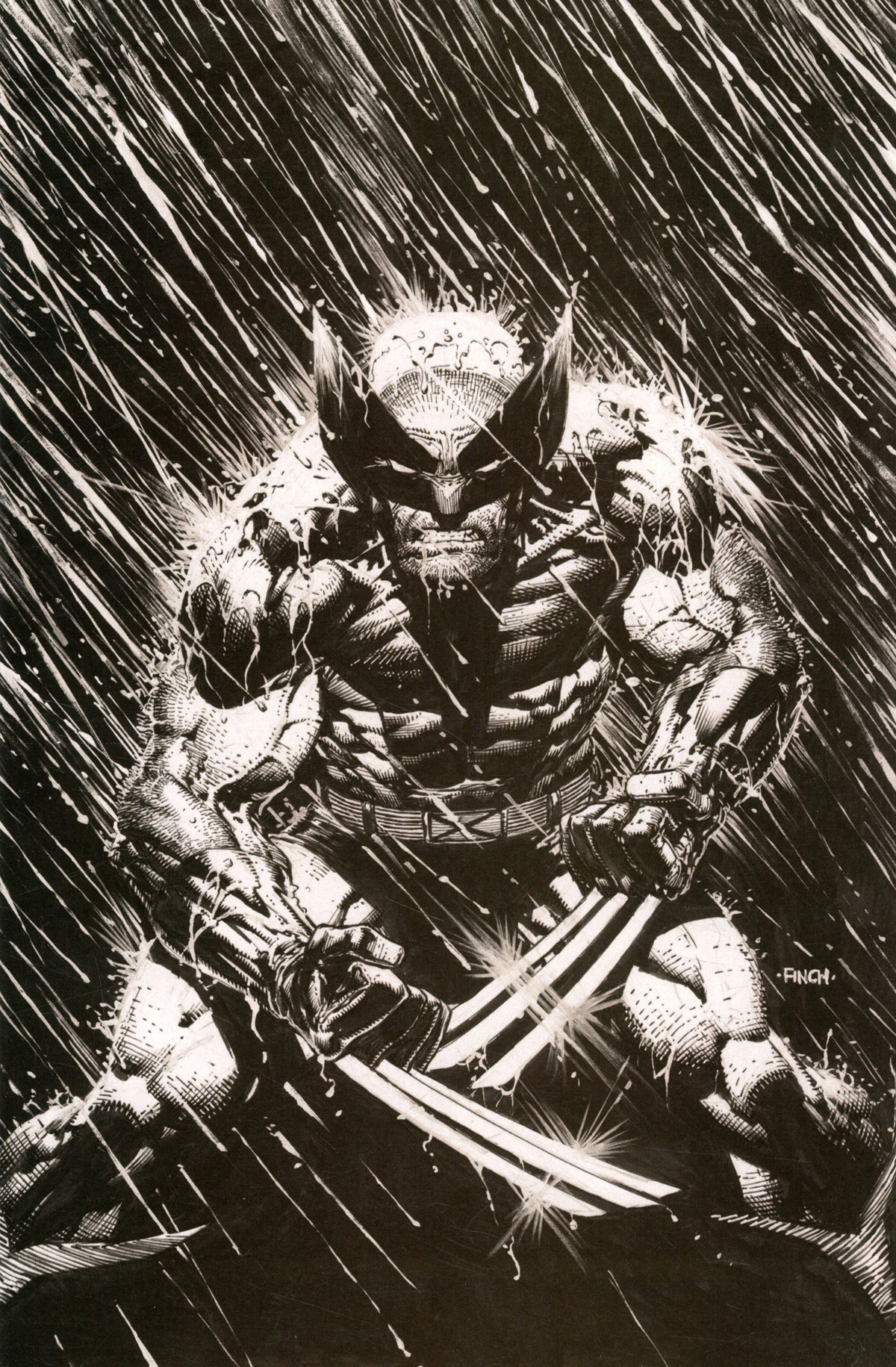 Wolverine Vol 7 #2 Cover E Incentive David Finch Inks Virgin Variant Cover (Dawn Of X Tie-In)