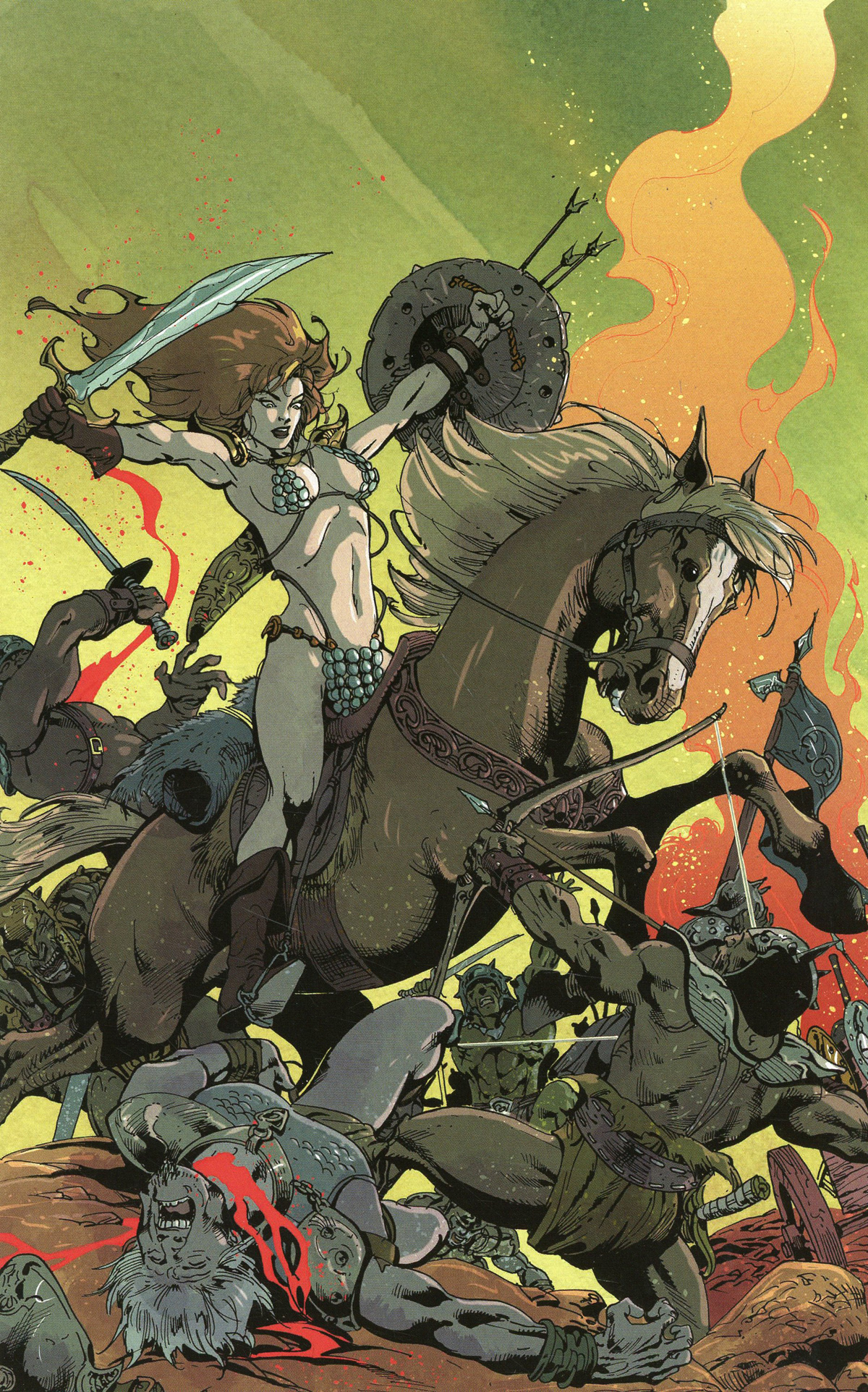 Killing Red Sonja #1 Cover F Incentive Roberto Castro Virgin Cover