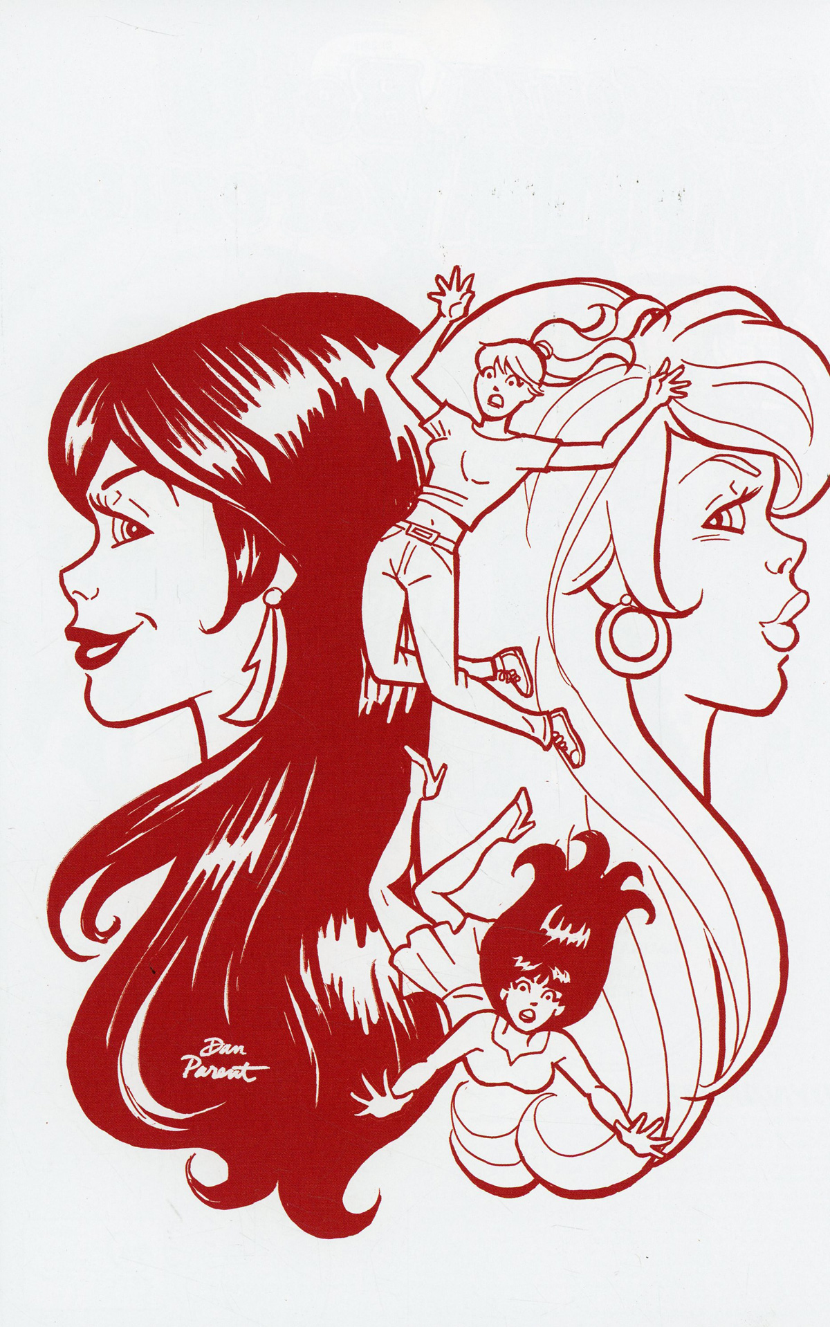 Red Sonja And Vampirella Meet Betty And Veronica #10 Cover K Incentive Dan Parent Red Tint Cover