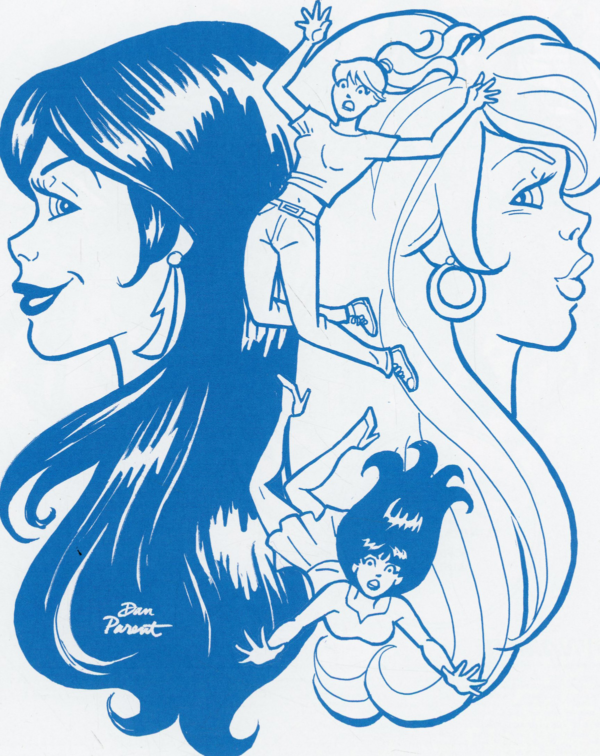 Red Sonja And Vampirella Meet Betty And Veronica #10 Cover M Incentive Dan Parent Blue Tint Cover