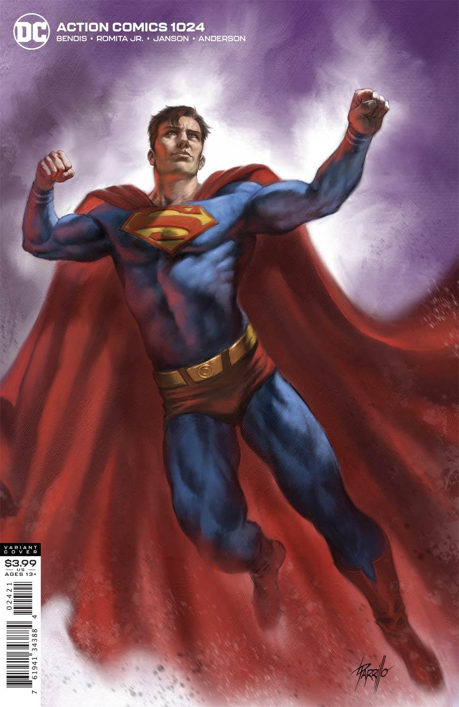 Action Comics Vol 2 #1024 Cover B Variant Lucio Parrillo Cover