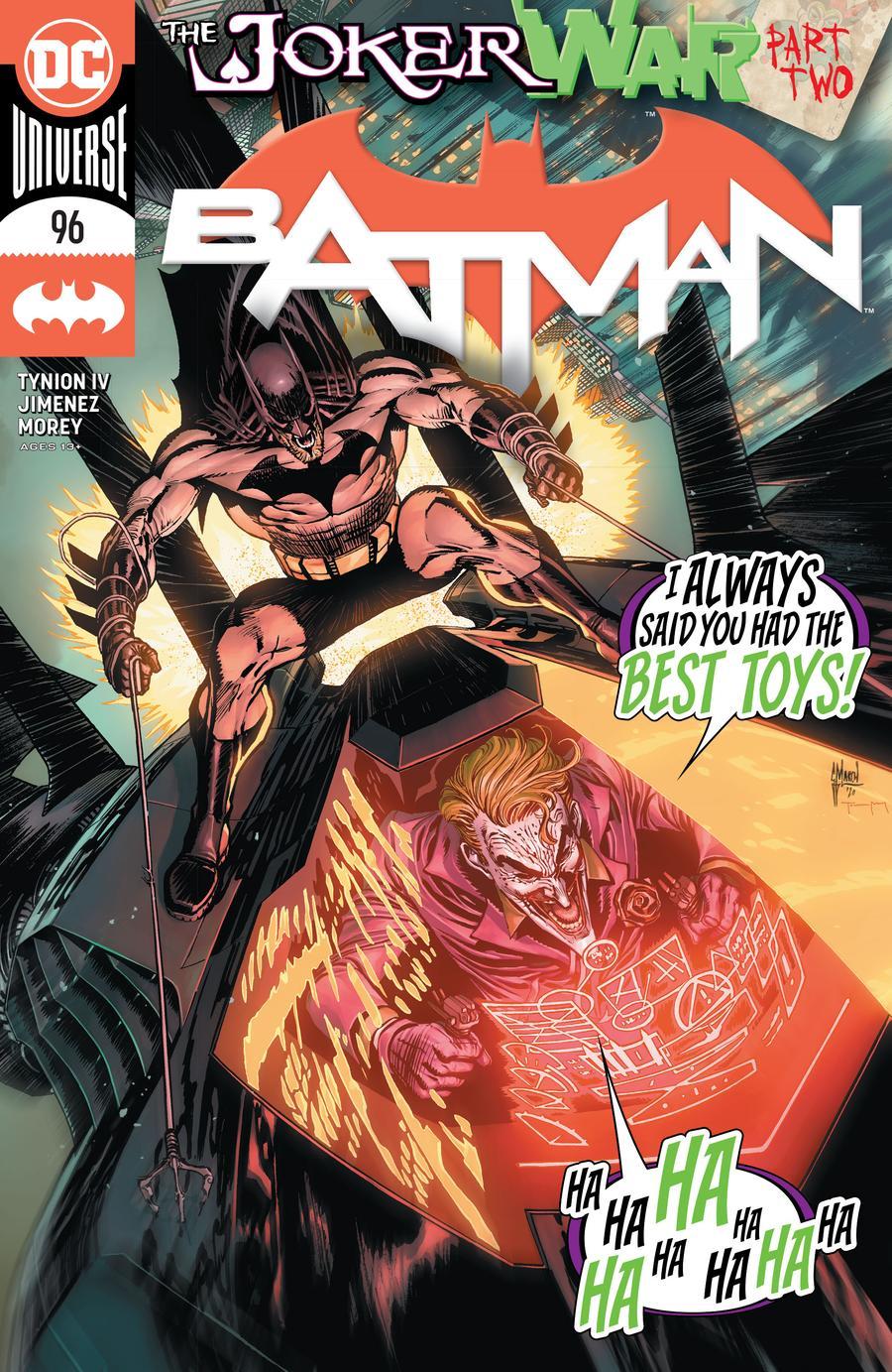 Batman Vol 3 #96 Cover A Regular Guillem March Cover (Joker War Tie-In)