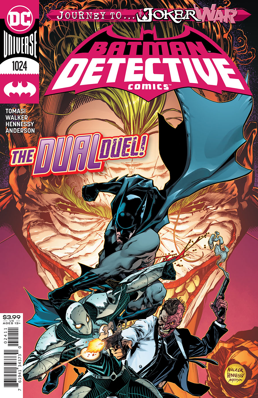 Detective Comics Vol 2 #1024 Cover A Regular Brad Walker & Andrew Hennessy Cover (Joker War Tie-In)
