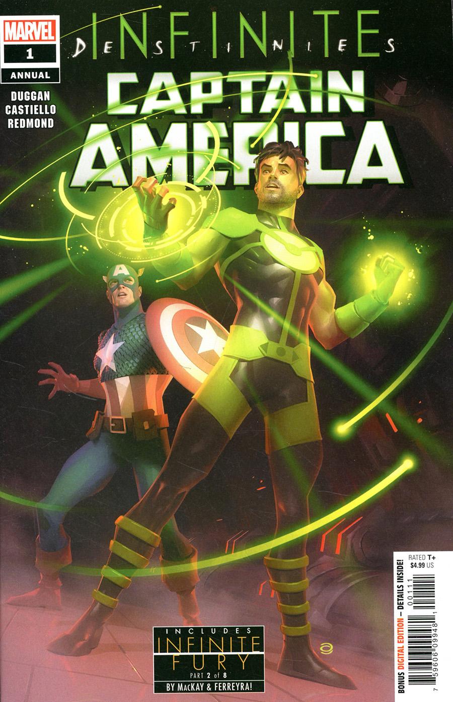 Captain America Vol 9 Annual #1 (2021) Cover A Regular Alex Garner Cover (Infinite Destinies Tie-In)