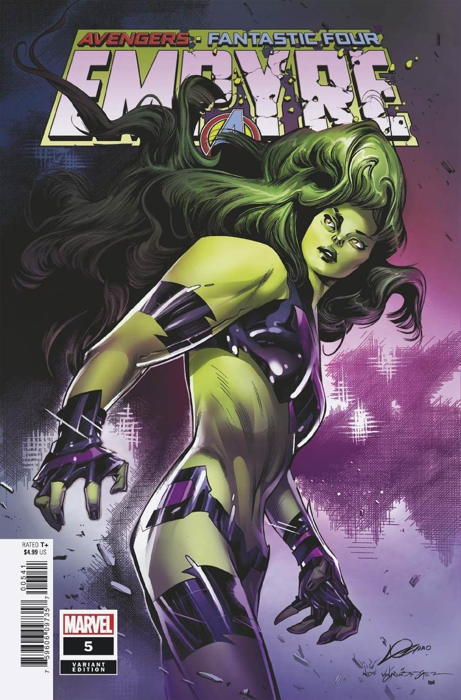 Empyre #5 Cover C Variant Alexander Lozano Avengers Cover