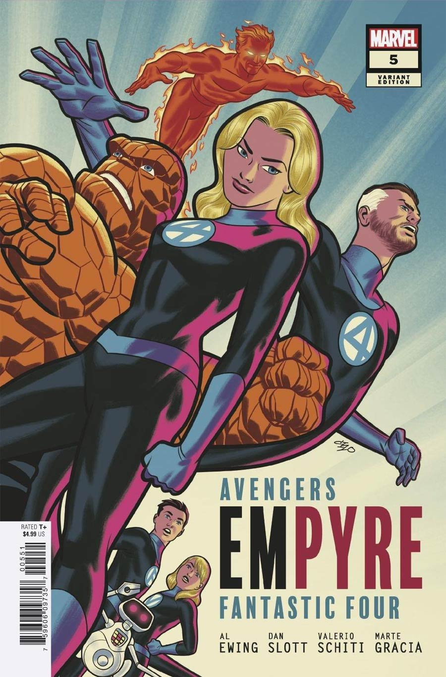 Empyre #5 Cover D Variant Michael Cho Fantastic Four Cover