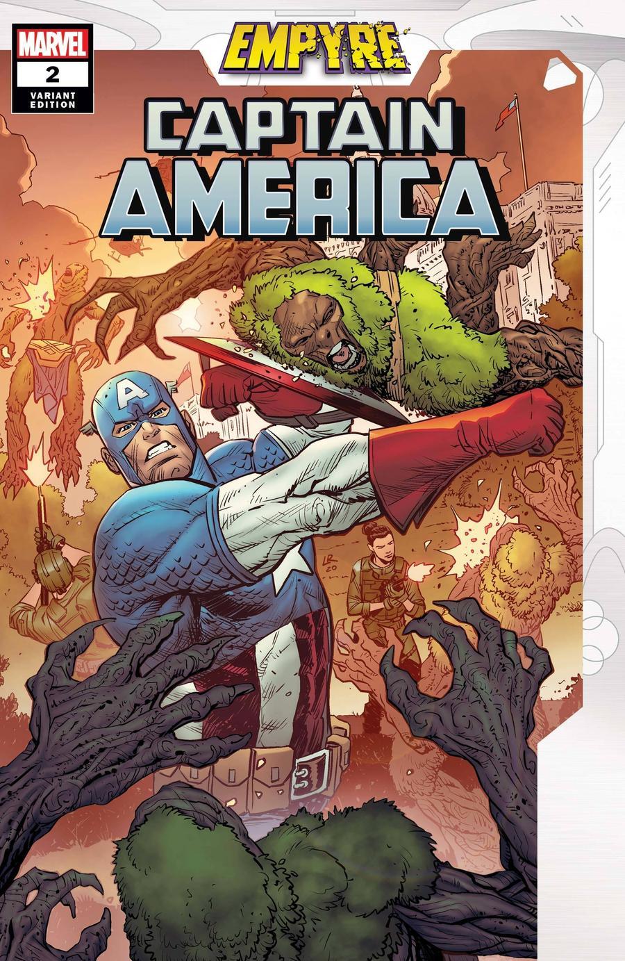 Empyre Captain America #2 Cover B Variant Luke Ross Cover