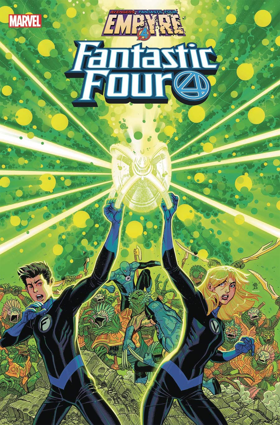 Fantastic Four Vol 6 #23 Cover A Regular Nick Bradshaw Cover (Empyre Tie-In)