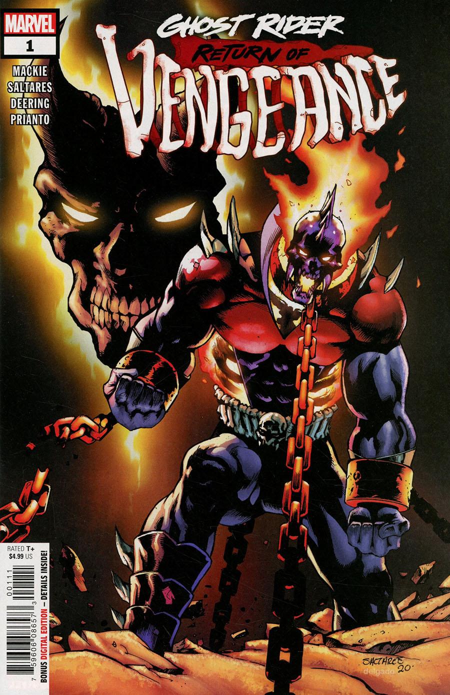 Ghost Rider Return Of Vengeance One Shot Cover A Regular Javier Saltares Cover