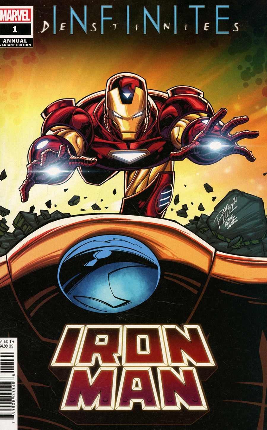 Iron Man Vol 6 Annual #1 Cover B Variant Ron Lim Connecting Cover (Infinite Destinies Tie-In)