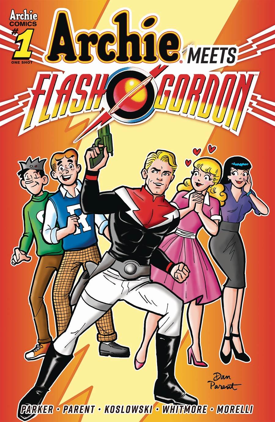 Archie Meets Flash Gordon One Shot Cover A Regular Dan Parent Cover