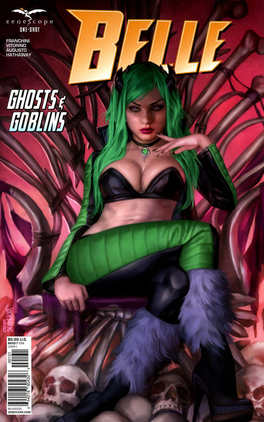 Grimm Fairy Tales Presents Belle Ghost And Goblins One Shot Cover C Josh Burns