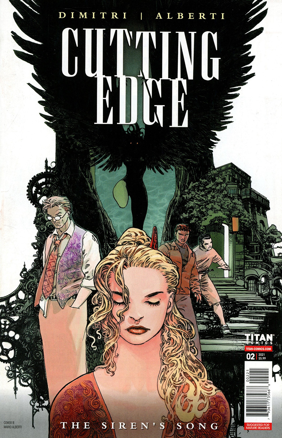 Cutting Edge Sirens Song #2 Cover B Variant Mario Alberti Cover
