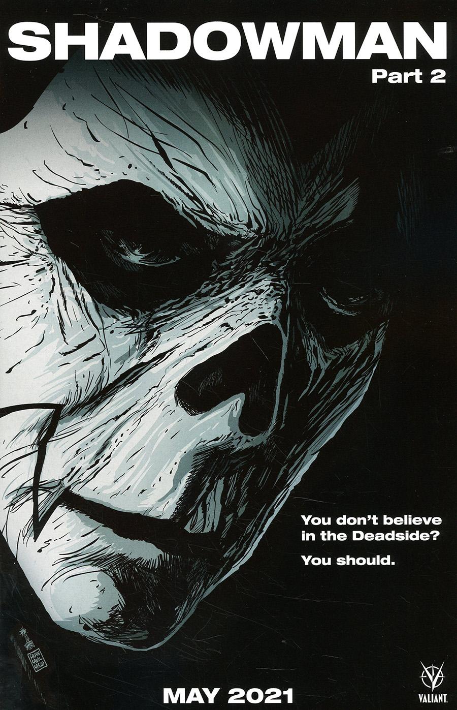 Shadowman Vol 6 #2 Cover C Variant Francesco Francavilla Horror Movie Homage Cover