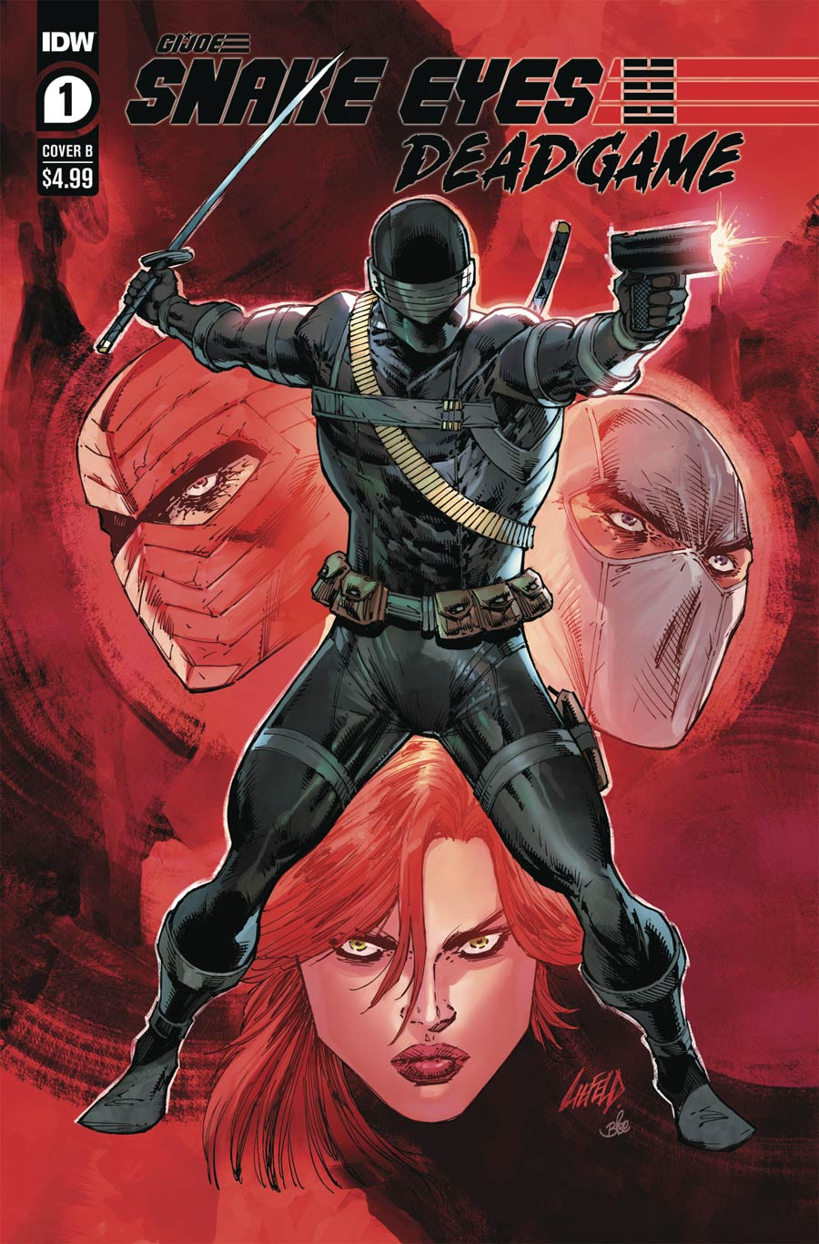 Snake Eyes Deadgame #1 Cover B Variant Rob Liefeld Cover