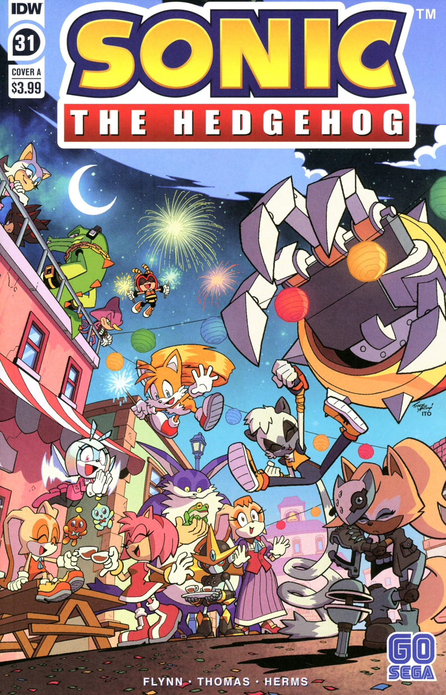 Sonic The Hedgehog Vol 3 #31 Cover A Regular Tracy Yardley Cover