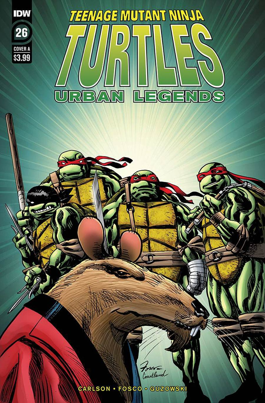 Teenage Mutant Ninja Turtles Urban Legends #26 Cover A Regular Frank Fosco Cover