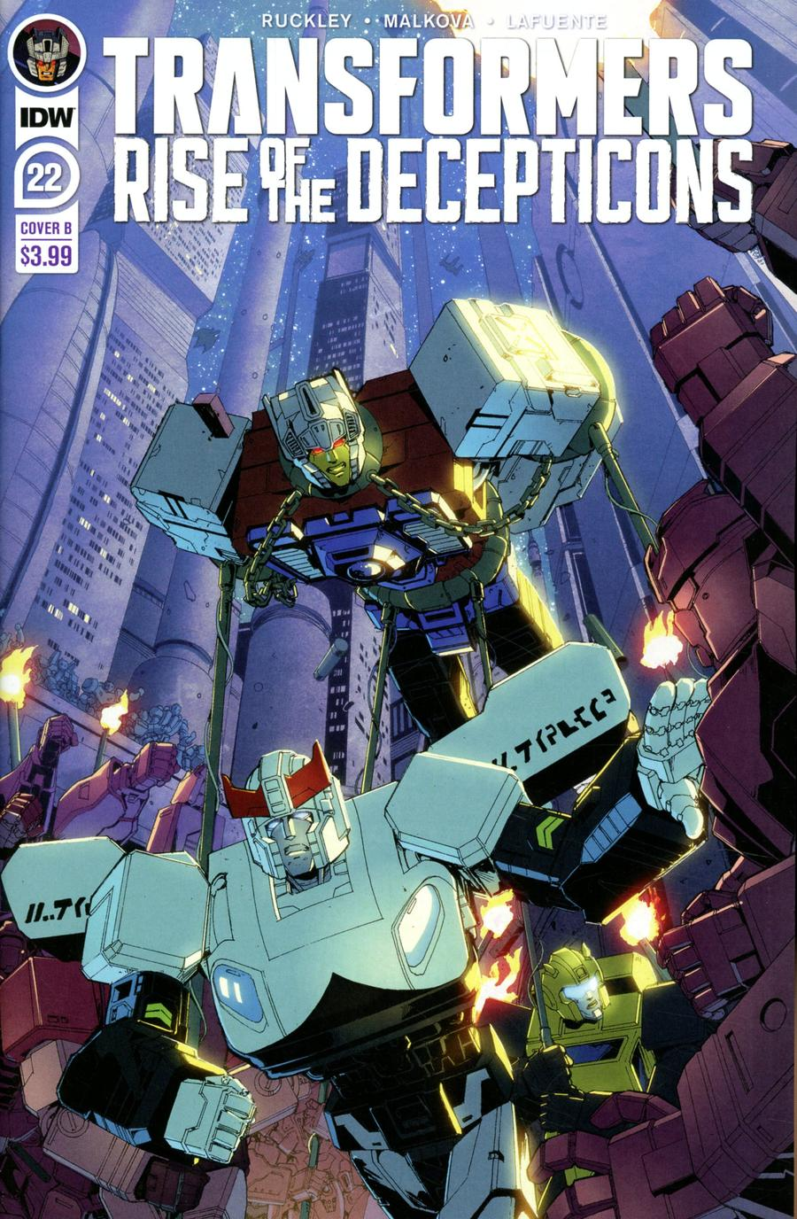 Transformers Vol 4 #22 Cover B Variant Andrew Griffith Cover