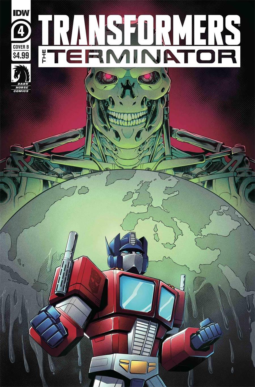 Transformers vs Terminator #4 Cover B Variant Billie Montfort Cover