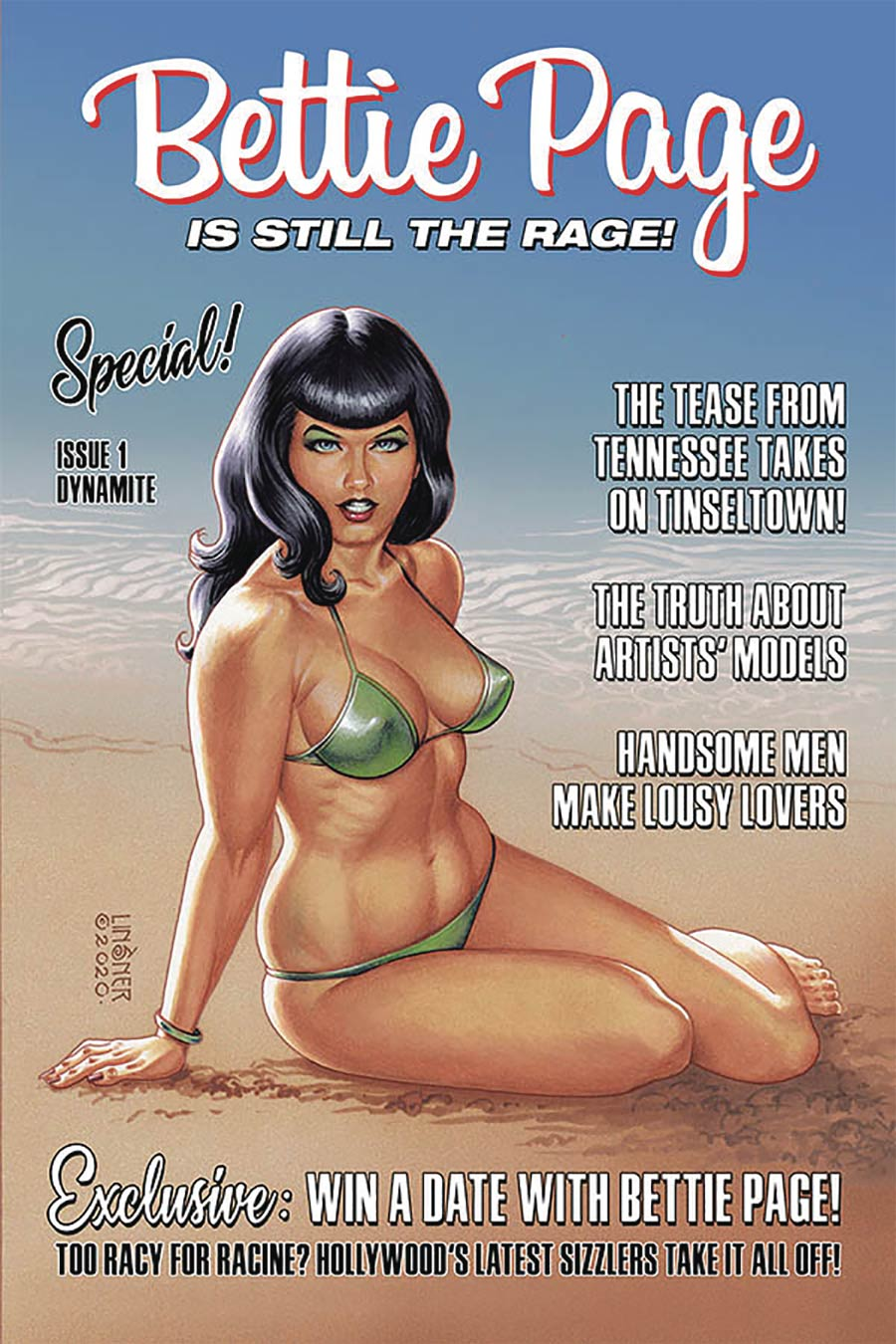 Bettie Page Vol 3 #1 Cover C Variant Joseph Michael Linsner Cover