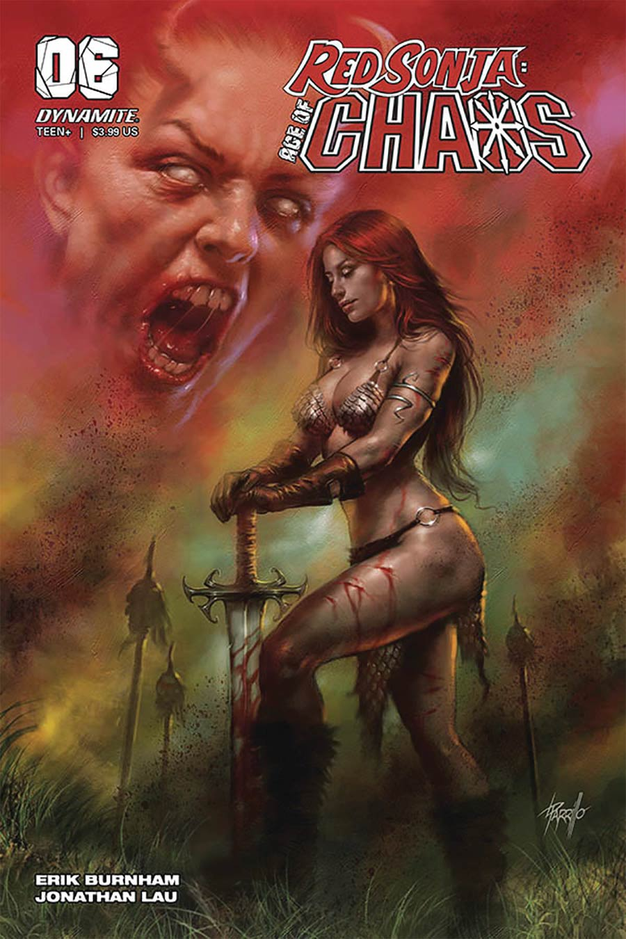 Red Sonja Age Of Chaos #6 Cover A Regular Lucio Parrillo Cover