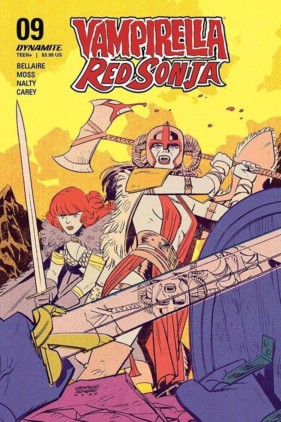 Vampirella Red Sonja #10 Cover C Variant Leonardo Romero & Jordie Bellaire Cover