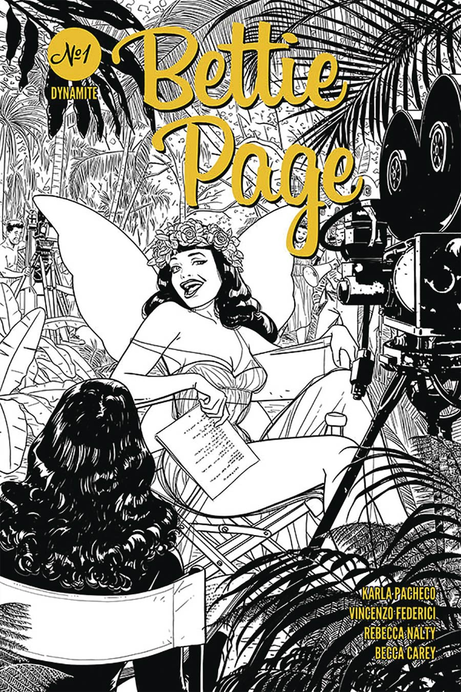 Bettie Page Vol 3 #1 Cover H Incentive Kano Black & White Cover