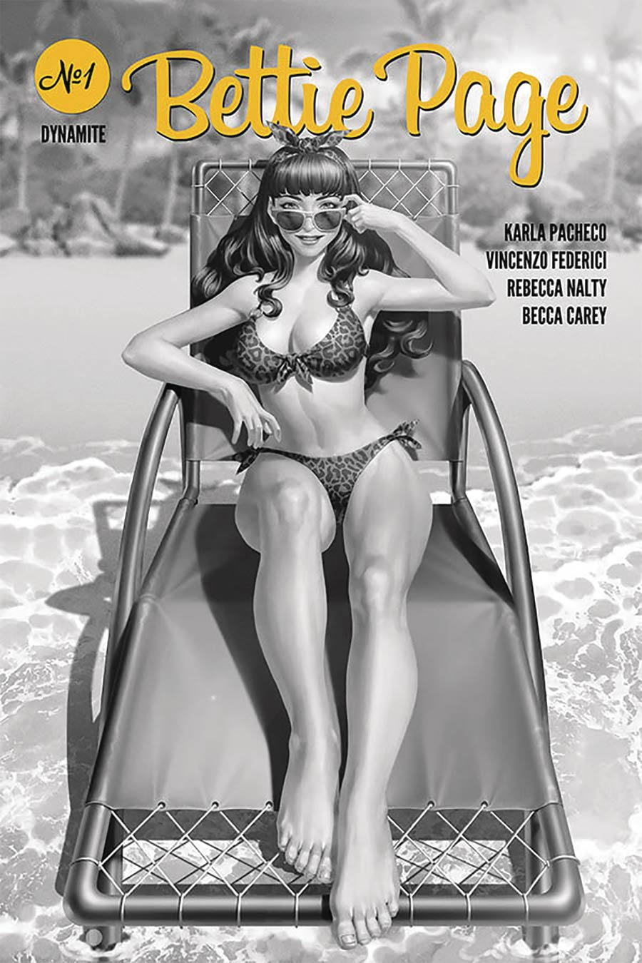 Bettie Page Vol 3 #1 Cover J Incentive Junggeun Yoon Black & White Cover