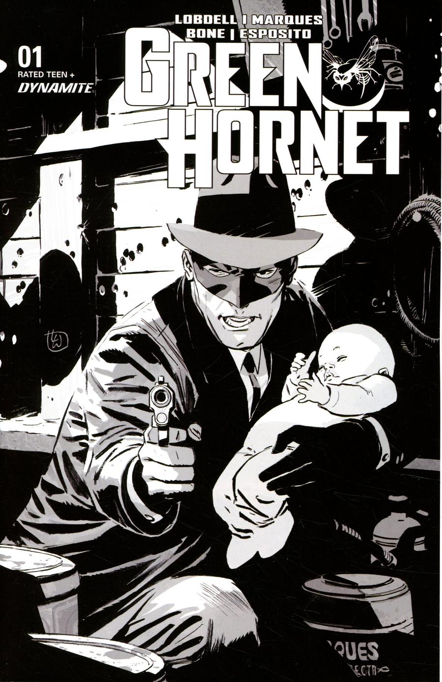 Green Hornet Vol 5 #1 Cover M Incentive Lee Weeks Black & White Cover