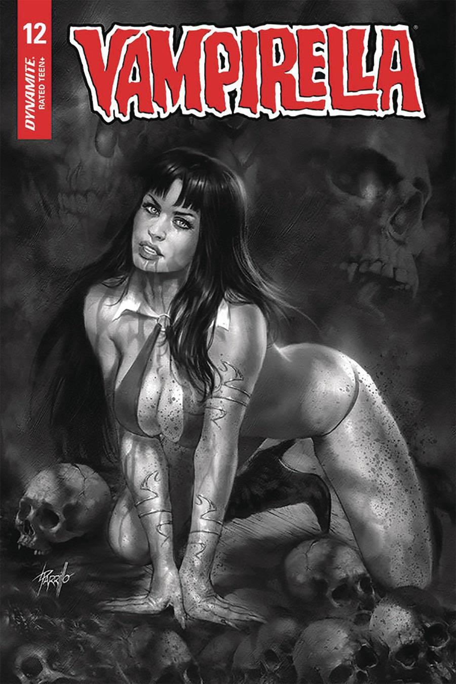 Vampirella Vol 8 #12 Cover J Incentive Lucio Parrillo Black & White Cover