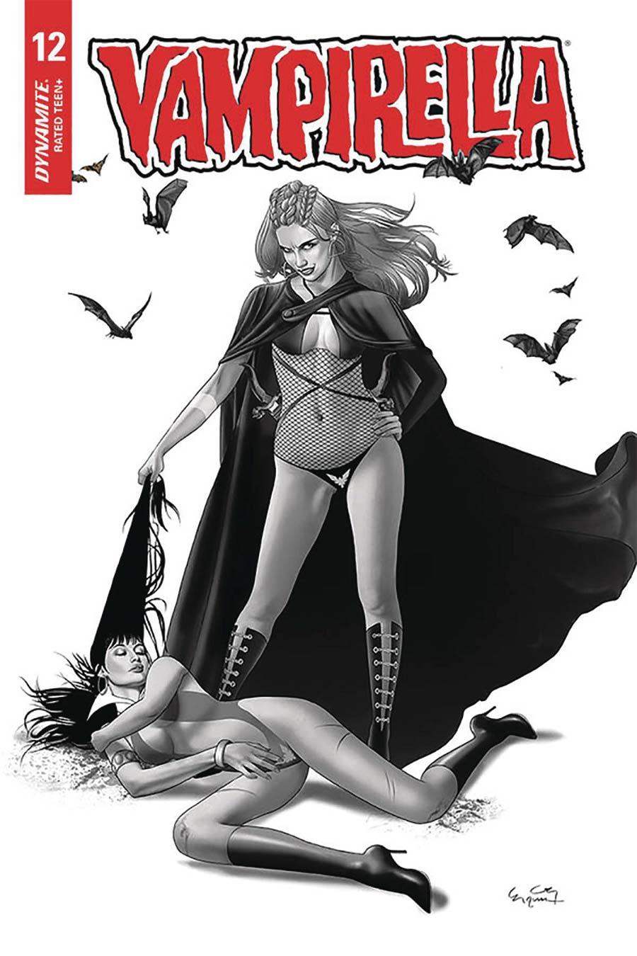 Vampirella Vol 8 #12 Cover M Incentive Ergun Gunduz Black & White Cover