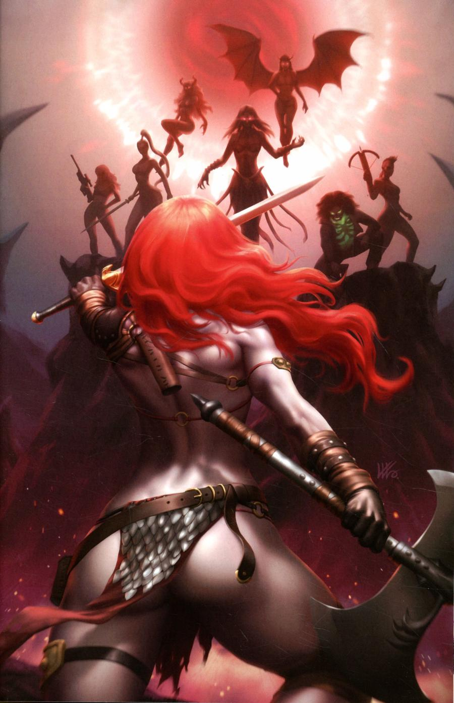 Red Sonja Age Of Chaos #6 Cover N Incentive Kunkka Virgin Variant Cover